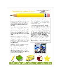 Newsletter Template For Teachers Gotostudy Info