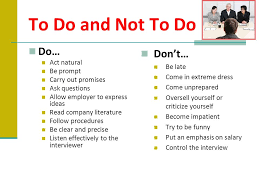 The Do S And Don Ts Of An Interview Before The Interview During The Interview After The