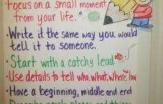 Lucy Calkins Narrative Writing Anchor Charts