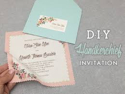 invitations to print free diy vintage hanky wedding invitation with free template
