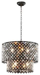 bella jean 8 light round crystal chandelier antique bronze