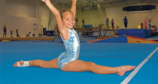 floor gymnastics splits. Young Girl In Leotard Doing The Splits YMCA Gymnastics Center Floor H