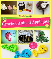 Animal Applique Designs 32 Creative Free Crochet Applique Patterns Crochetnstyle Com