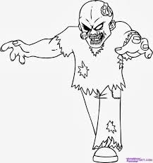 Small Picture Halloween Coloring Pages Zombie Printable Halloween Coloring Pages