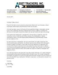 Recommendation Letter From Religious Leader Magdalene