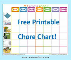 Free Downloadable Chore Chart Templates Free Printable Kids Chore Charts Templates For The Home