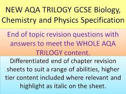 NEW AQA GCSE Trilogy end of chapter revision activities for ...