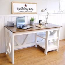 diy office projects. Farmhouse X Desk For The Home Office Diy Projects