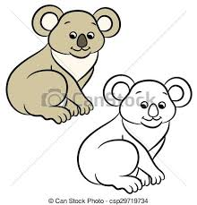 koala bear coloring book csp29719734