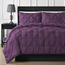 bedding pintuck pleated duvet quilt