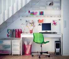 ikea office inspiration. Understair Workspace With Storage, A Desk And Chair Ikea Office Inspiration