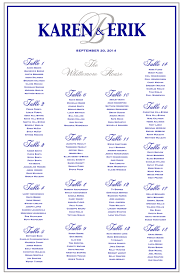 Wedding Seating Chart Staples Navy And Silver Wedding Seating Chart With Your Monogram