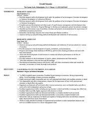Cover Letter Research Assistant Resume Samples Velvet Jobs
