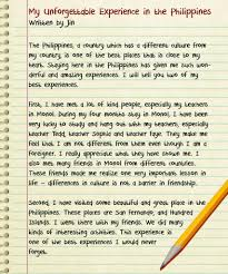 essay about experiences in life co essay