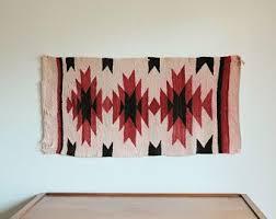 Navajo rug designs for kids Ganado Mid Century Navajo Rug Wall Hanging Beautiful Geometric Design Ganado C 1950s Etsy Navajo Rug Etsy