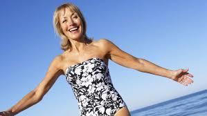 Mature woman swim suit
