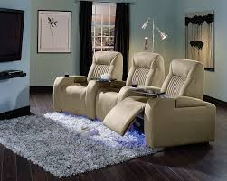 home theater furniture ideas. light brown home theater sofa by palliser furniture with bottle holder for ideas