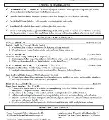 Dental Assisting Resume Assistant Duties For Sample Ideas Job