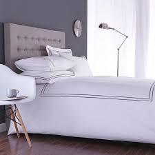 mayfair duvet cover set white slate grey 100 cotton percale 200 thread