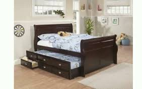 White Twin Bed with Trundle | Trundle Bed | Bed Frame Full Size