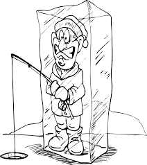 Small Picture Ice Cube Coloring Page Ice Fisherman Stuck In Block Of Ice