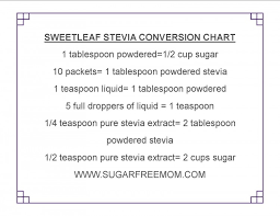 Thm Sweetener Conversion Chart Swerve Stevia Differences In Liquid Packets Powdered Pure A