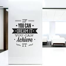 Inspirational office decor Cubicle Wall Inspirational Office Decor Wall Decal Quotes Art Typographic Sticker Dream It Achieve Image Webstechadswebsite Inspirational Office Decor Wall Decal Quotes Art Typographic Sticker