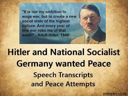 Hitler Quotes Awesome Adolf Hitler And Germany Wanted Peace Extracts From Adolf Hitler's