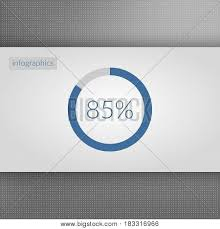 85 Percent Pie Chart Vector Photo Free Trial Bigstock