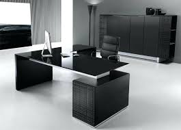 office furniture designer. Executive Pedestal Desk Black Glass Top Office Interiors Furniture Designer Desks