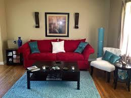 Coral And Aqua Living Room ...