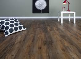 Black Color Vinyl Wood Plank Flooring For Large Living Room Design