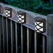 garden led lights. SOLAR POWERED FENCE LIGHTS STEP DOOR WALL BRIGHT 6 LED GARDEN OUTDOOR NEW Garden Led Lights