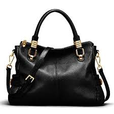 Kattee <b>Women's Genuine Leather Tote</b> Satchel Shoulder Handbag ...