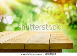 outdoor woods backgrounds. Empty Wooden Table With Garden Bokeh For A Catering Or Food Background Country Outdoor Woods Backgrounds