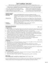 Lab Technician Resume Sample Resume Objective Network Technician Cable Best Sle Janet 68