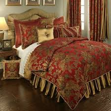 an luxury bedding collection in red and gold the verona red bed set will transform