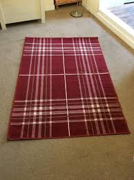 red checked rug