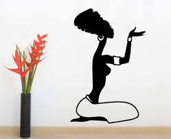 woman silhouette wall art