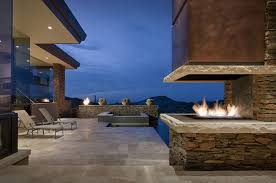 custom modern outdoor fireplace with tv gas designs