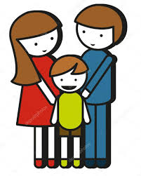 Simple Family Simple Family Drawing With Parents And Kid Stock Vector