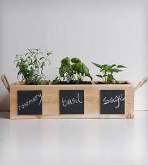 kitchen herb planter w/ chalkboard paint