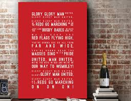 Manchester United Bedroom Manchester United Etsy
