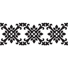 white tangier stripe wall decal