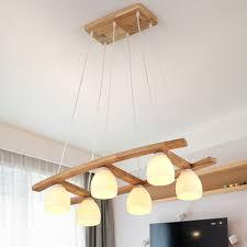 Good Chandelier Deckenlampe Holz Led Kronleuchter Rechteck