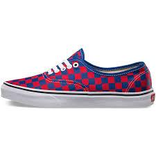 vans golden coast. vans golden coast authentic shoes - blue/red checker 9.5