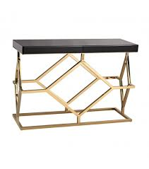 enchanting gold console table and console table black glass top