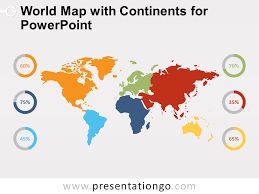 Powerpoint World World Map With Continents For Powerpoint Presentationgo Com