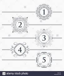 Design Page Number Decorative Elements For Design Footer With The Decor For The