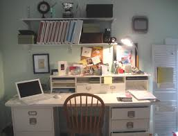 organize office space. Small Diy Home Office Layout Ideas With Wall Mount Shelves Organize Space